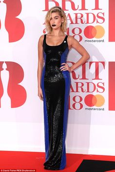 Slinky: Hailey Baldwin showed off her model prowess as she sauntered down the red carpet a... #haileybaldwin