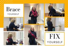 Brace Yourself for a quick trick to remind you how good sitting tall is supposed to feel! Posture Help, Better Posture, Good Posture, Improve Posture, Chest Muscles, Back Muscles, Back Brace For Posture, Neck Problems, Brace Yourself