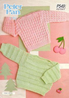 Vintage PDF Baby Sweaters Knitting Pattern by PrettyVintageKnits, £0.99
