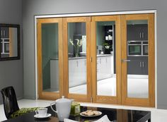 Finesse Oak 1.8m (approx 6ft) Internal Bifold Doors - no track » Vufold