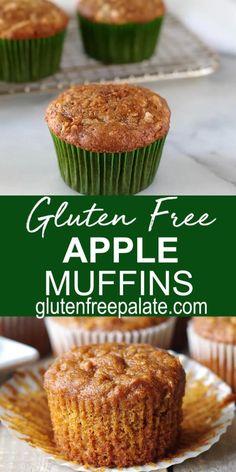 Healthy Gluten Free Recipes, Gluten Free Sweets, Gluten Dairy Free, Gluten Free Lunch Ideas, Gluten Free Recipes For Breakfast, Muffin Recipes, Dairy Free Cupcakes, Dairy Free Muffins, Desserts Keto
