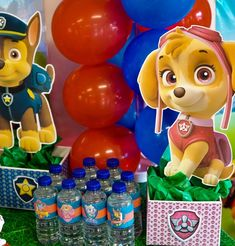 Check out our FREE Paw Patrol Party Decoration Centerpieces. Sky Paw Patrol, Paw Patrol Cake, Paw Patrol Birthday, Baby First Birthday, 4th Birthday Parties, Birthday Fun, Birthday Ideas, Fireman Birthday, Birthday Gifts