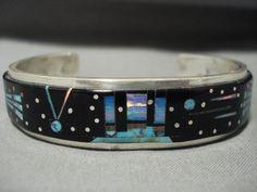 Unique! Monument Valley Turquoise Midnight Desert Space Kachina Bracelet