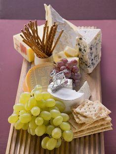 reception food ideas: wine, bread, cheese, fruit