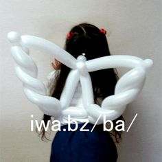 Only three balloons to make these beautiful angel wings! Link here: http://iwa.bz/ba/tennji1/index0.html