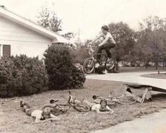Bike jumps in the 70's