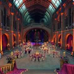 OMG how much would it cost to have a reception here - but how amazing would it be? Hintze Hall at the Natural History Museum London Natural History Museum London, London History, Wedding Venues Uk, Event Venues, Wedding Reception, Wedding Set, National History, Wedding Advice, Wedding Ideas