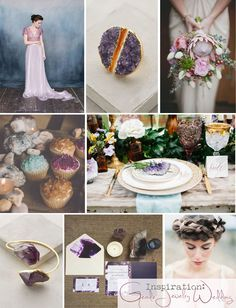 Geode Jewelry Infused Wedding Inspiration  http://storyboardwedding.com/geode-jewelry-wedding-inspiration/
