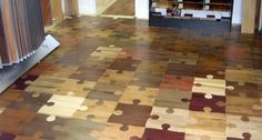 This floor can't be all that hard to install!! Haha!    10 Most Creative Flooring Ideas For Your Home