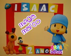 Marco pocoyo Kids Birthday Themes, Baby 1st Birthday, Birthday Numbers, 1st Birthday Parties, Picture Booth, Picture Frame Decor, Happy 1st Birthdays, Baby Shower, Holidays And Events