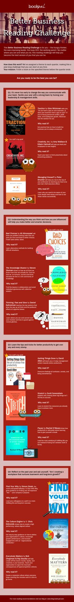 Take the Better Business Reading Challenge || Infographic