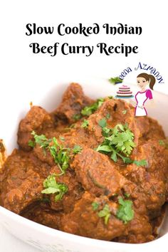 This Indian Beef curry Recipe made with authentic Indian spices and cooked until the meat is fork tender. Weather you make a slow cooker beef curry or stovetop beef curry this authentic Indian beef curry is to die for. Slow Cooker Beef Curry, Slow Cooked Beef, Slow Cooker Recipes, Beef Recipes, Cooking Recipes, Recipies, Vegan Recipes, Cooking Rice, Cooking Pork