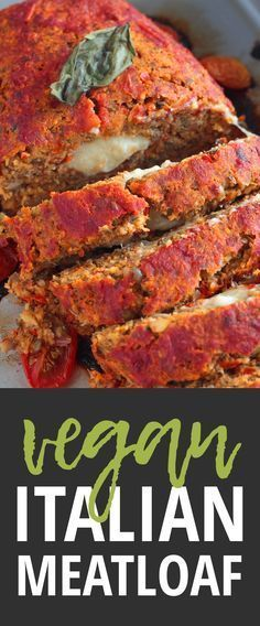 Vegan Italian Meatloaf with lentils and mushrooms - 100% plantbased