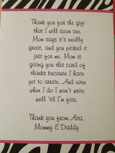Thank You Note for Gift | Kiddo Shelter