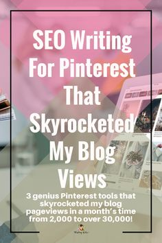 You're probably asking how to get huge traffic on website. The answer to this question is to know SEO writing for Pinterest. You'll find Pinterest keywords tool and increase wordpress traffic. #blogger, #bloggingtips, #bloggerlife, #bloggersgetsocial, #ontheblog