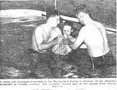 My baptism April 27, 1958 Folkestone Kent