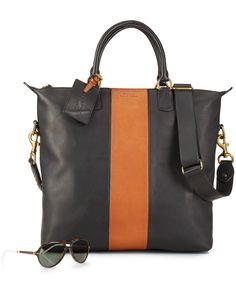 Polo Ralph Lauren Two-Toned Leather Zip Tote - Accessories  amp  Wallets -  Men 7306c28b69675