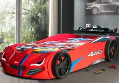 Buy Race Car Bed Red at Car Bed Shop which stocks luxury, unique Kids Beds. The Car Bed Shop supplies kids beds across the UK. Red Bedding, White Bedding, Bedding Shop, Race Car Bed, Race Cars, Unique Kids Beds, Kids Car Bed, Flame Design, Mdf Wood