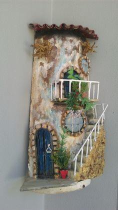 Victorian Crafts, Polymer Clay Fairy, Crafts For Seniors, Clay Fairies, House On… – Tile Fairy House Crafts, Clay Fairy House, Fairy Houses, Tile Crafts, Diy Home Crafts, Diy Arts And Crafts, Clay Crafts, Fairy Garden Doors, Fairy Doors
