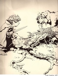 The Hobbit & Lord of the Rings illustrations by Frank Frazzetta 1975