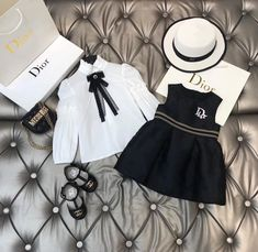 Little Girl Outfits, Little Girl Fashion, Toddler Fashion, Kids Fashion, Luxury Baby Clothes, Designer Baby Clothes, Cute Baby Shoes, Cute Baby Clothes, Cute Comfy Outfits