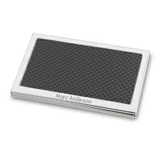 Personalized Carbon Fiber Card Case , Add Your Message http://www.thingsremembered.com/product/Business/Card-cases-Card-Holders/Carbon-Fiber-Card-Case/pc/2119/c/0/sc/2613/161494.uts
