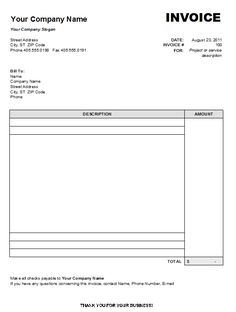 use this blank invoice template to create professional invoice for your services and or products - Template For Invoice
