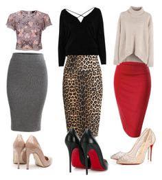 """""""Untitled #27"""" by flechdd on Polyvore featuring River Island, Yoek, Needle & Thread, Christian Louboutin and Rupert Sanderson"""