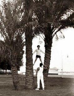 الملك فاروق مع مدرب العاب القوى ..!!