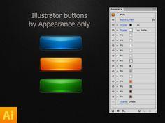 illustrator buttons 1x1 55 Extravagant PSD Freebies #5