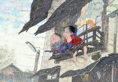 雪景色 - アトリエウメ 日本画家 中島潔の公式ホームページ