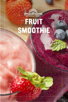 Combine all ingredients in a blender. Divide between 2 glasses. Easy Smoothie Recipes, Good Smoothies, Smoothie Ingredients, Breakfast Smoothies, Fruit Smoothies, Smoothie Packs, Smoothie Bowl, Fruit Combinations, Yummy Snacks