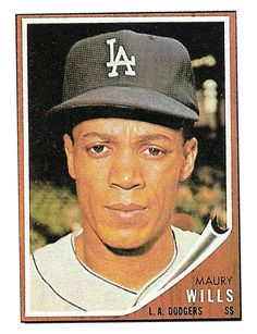 1962 Topps Maury Wills (card that never was) Dodgers Nation, Dodgers Fan, Dodgers Baseball, Football And Basketball, Baseball Players, Old Baseball Cards, Baseball Photos, Hockey Cards, Maury Wills