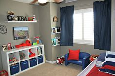all things katie marie: Big Boy Baseball Room Boy Toddler Bedroom, Big Boy Bedrooms, Toddler Rooms, Baby Boy Rooms, Toddler Boy Beds, 4 Year Old Boy Bedroom, Toddler Bedroom Ideas, Boys Room Ideas, Little Boys Rooms