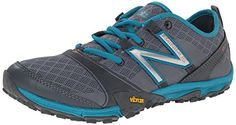 Cool New Balance Women's WT10GG3 Minimus Trail Shoe, Grey/Teal, 8.5 B US