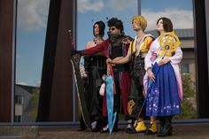 Final Fantasy X Cosplay. Dzerena as Yuna, Toon as Tidus, Michael as Auron and me as Lulu