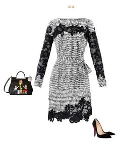 """""""Mama's Dolce Bag"""" by mrs-snow ❤ liked on Polyvore featuring Diane Von Furstenberg, Dolce&Gabbana, Christian Louboutin and FOSSIL"""