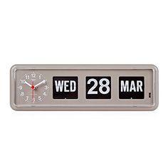 Homeloo x Twemco German Quartz Retro Modern Calendar Wall...