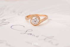Our Caress #EngagementRing in Pink Gold