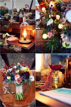 Mariage Steampunk bohème par Madame Coquelicot & Poppy Figue Flower