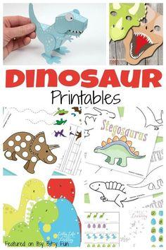 Free Dinosaur Printables for Kids  #free #worksheets #preschool