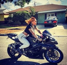 """""""People sleep on showing this real bike life shit on Tv, it's so much talent out there, So let me open the door for world wide to hit reality…"""" Female Motorcycle Riders, Motorbike Girl, Morgan Westbrooks, Bree, West Brook, Custom Sport Bikes, Baby Bike, People Sleeping, Bike Style"""