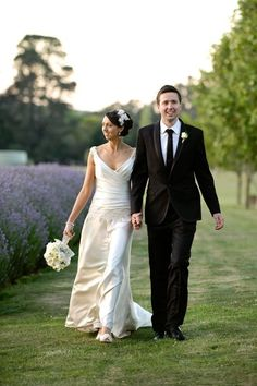 Lavender farm wedding, V-neck wedding dresses,  rustic lavender wedding #2014 Valentines day wedding #Summer wedding ideas www.dreamyweddingideas.com