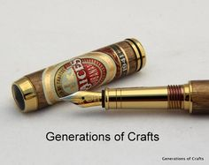 Hand Crafted Pen - Raices Cubano Cigar Pen - Fountain Pen - Grooms Gift on Etsy, $120.00