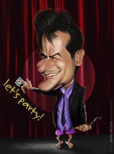 TOONPOOL Cartoons - Charlie Sheen by jaime ortega, tagged charlie, sheen - Category Famous People - rated / Funny Caricatures, Celebrity Caricatures, Celebrity Drawings, Cartoon Faces, Funny Faces, Cartoon Art, Caricature From Photo, Caricature Drawing, Charlie Sheen