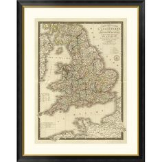 Global Gallery Angleterre, Galles, 1827 by Adrien Hubert Brue Framed Graphic Art Size: