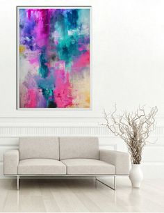Abstract Pink Blue teal Print from original painting, Large Abstract Painting print, Pink Blue Fine Art Print, pink teal painting print Blue Painting, Mixed Media Painting, Painting Prints, Fine Art Prints, Canvas Prints, Pink Abstract, Abstract Art, Abstract Flowers, Hobby Shops Near Me