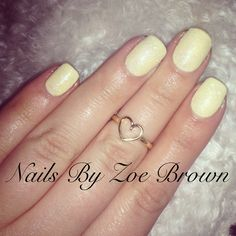 Yellow   CND Shellac   Nails