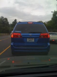 """This license plate from the state of Washington is registered as """"TARDIS"""", and a sticker on the car informs us that this driver's """"other TARDIS is a police box"""".  It's brilliant!"""