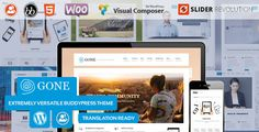 Gone - BuddyPress & WordPress Theme . Gone has features such as Widget Ready: Yes, Compatible Browsers: IE9, IE10, IE11, Firefox, Safari, Opera, Chrome, Compatible With: Visual Composer 4.11.2.1, Software Version: WordPress 4.2, WordPress 4.1, WordPress 4.0, WordPress 3.9, WordPress 3.8